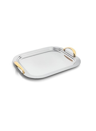Schafer Flach Orta Çelik Tepsi-GUM02-89387 Gümüş